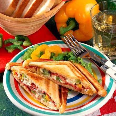 Salami-Sandwich Rezept
