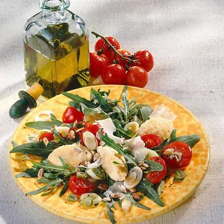 Salat aus Rauke mit Hirseklößchen Rezept