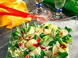 Salat mit frischer Meerrettich-Vinaigrette Rezept