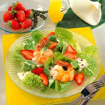 Salat mit Garnelen Rezept