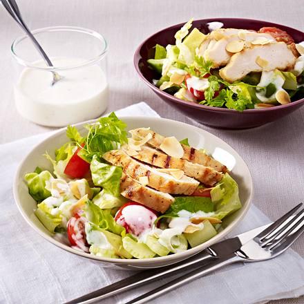 Salat mit Hähnchenstreifen Rezept