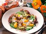 Salat mit Joghurt-Kräuter- Dressing Rezept