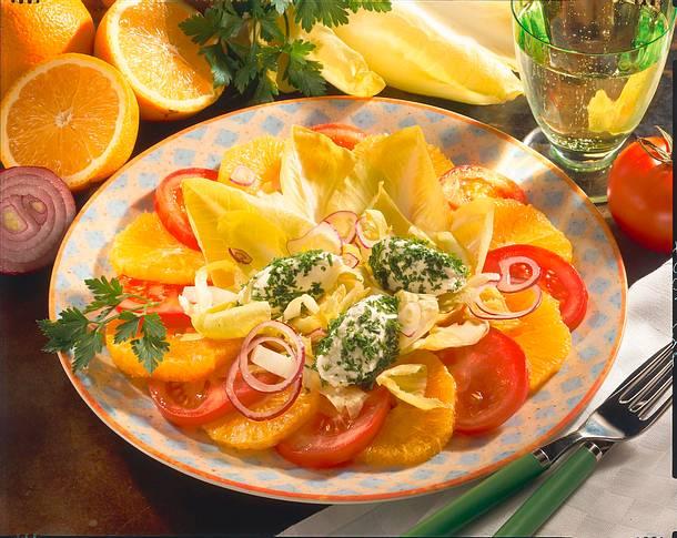 Salat mit Käsenocken Rezept