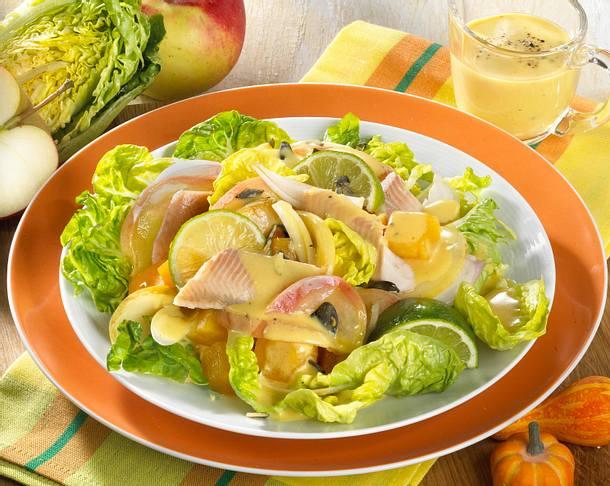 Salat mit Kürbis Rezept