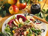 Salat mit Lammfilet Rezept