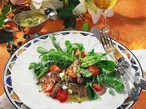 Salat mit Leber & Pistazien-Vinaigrette Rezept