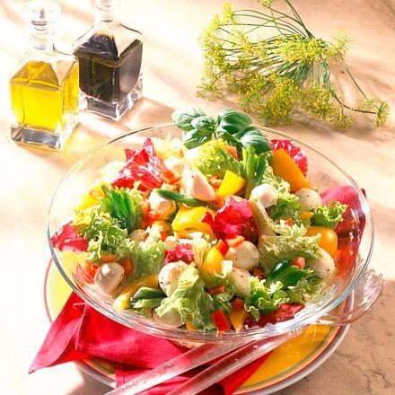Salat mit Mozzarella Rezept