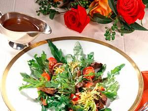 Salat mit Putenleber und Bacon Rezept