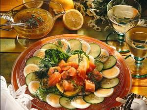 Salat mit Räucherlachs Rezept