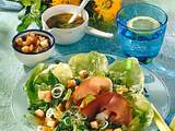 Salat mit Schinken & Croûtons Rezept