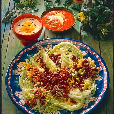Salat mit Sonnenblumen-Vinaigrette Rezept