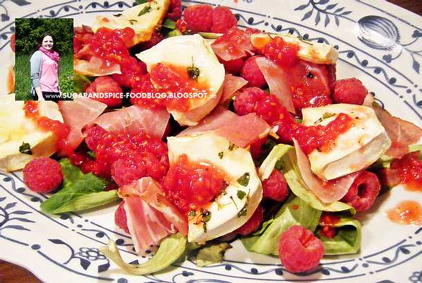 Salat mit Ziegenkäse und Himbeerdressing Rezept