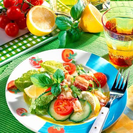 Salat-Teller mit Bacon Rezept