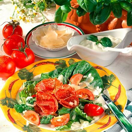 Salat-Teller mit Dip Rezept
