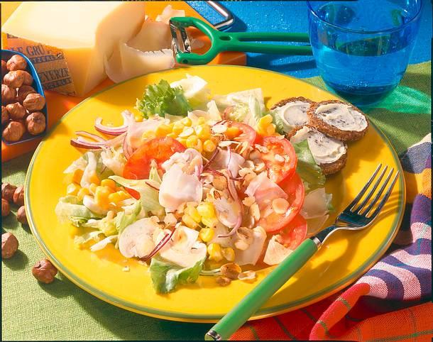 Salat-Teller mit Parmesan Rezept