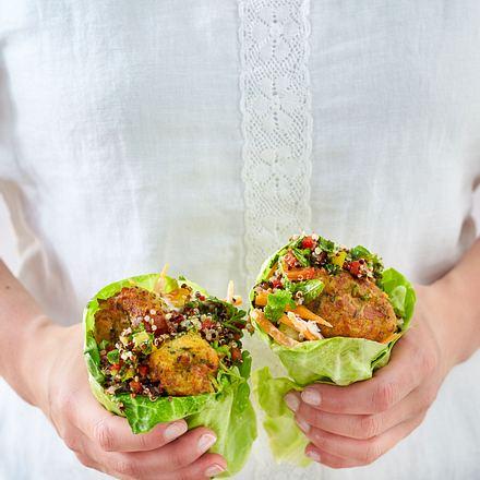 Salat-Wrap mit Halloumikäse Rezept