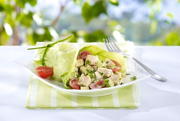 Salat-Wraps mit Hühnchen Rezept