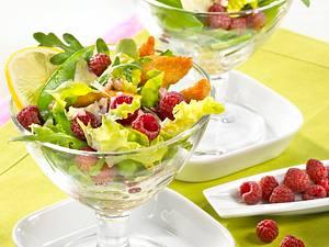 Salatcocktail mit Pute & Himbeeren Rezept