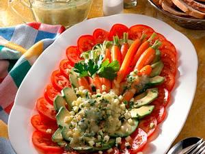 Salatplatte mit Kartoffel-Vinaigrette Rezept