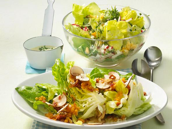 Salatspalten mit Linsen-Vinaigrette Rezept