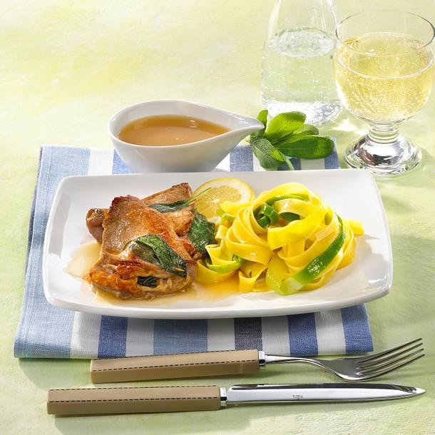 Saltimbocca mit Nudeln Rezept