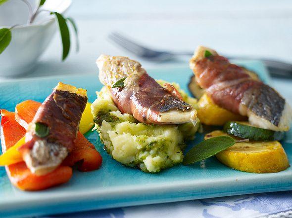Saltimbocca von der Dorade mit Pesto-Kartoffelpüree Rezept
