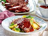 Salzbraten mit Rotweinsoße Rezept