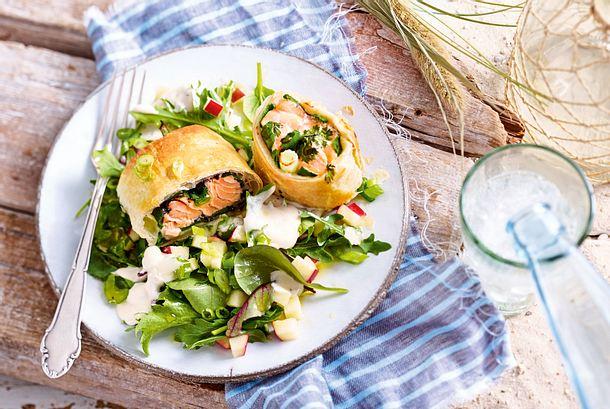Sansibarisches Lachspäckchen mit Sesamgeheimnis Rezept
