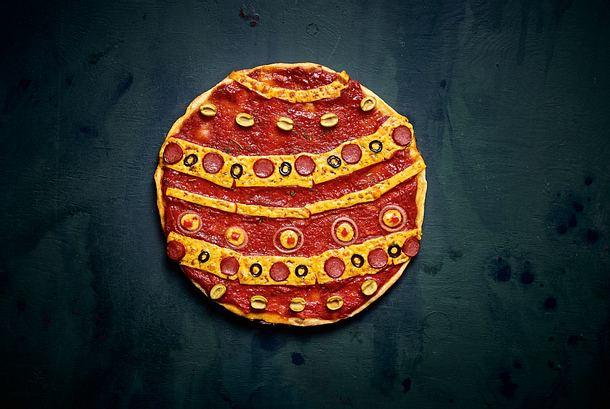 Santas Lieblingspizza Rezept