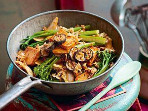 Satay-Tofu mit Brokkolini Rezept
