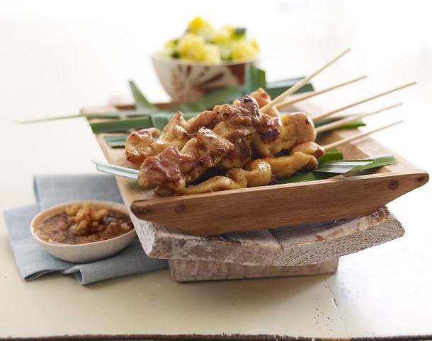 Saté Ayam Hähnchenspieße Rezept