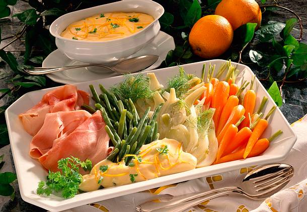 Sauce Maltaise zu feinem Gemüse Rezept