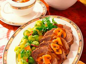 Sauerbraten mit Pilzsoße Rezept