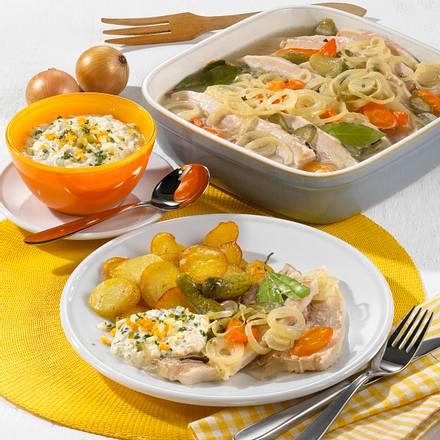 Sauerfleisch mit Bratkartoffeln und leichter Remoulade Rezept