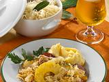 Sauerkraut-Ananas-Cabanossi Pfanne Rezept