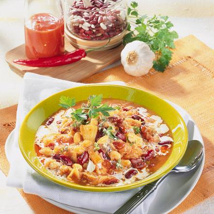Sauerkraut-Bohneneintopf Rezept