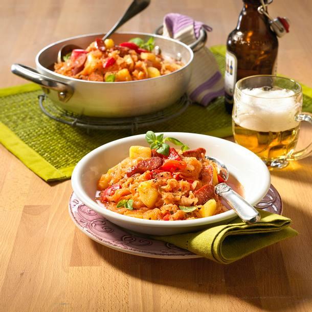 Sauerkraut-Kartoffel-Gulasch Rezept