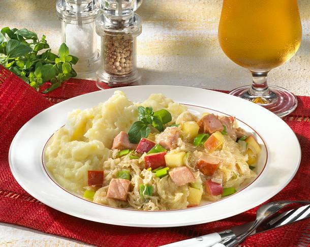 Sauerkraut mit Kartoffelschnee Rezept