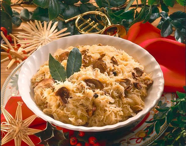 Sauerkraut mit Pilzen Rezept