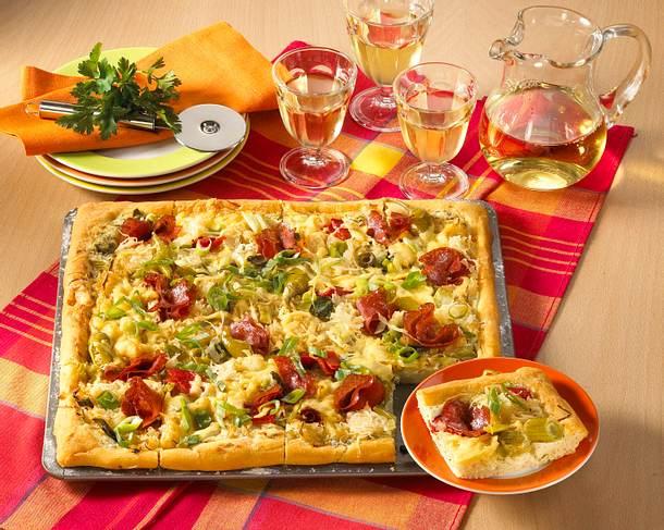 Sauerkraut-Pizza Rezept