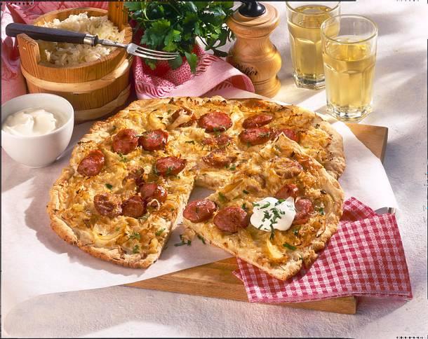 Sauerkraut-Quiche Rezept