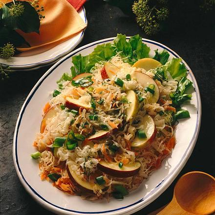 Sauerkraut-Rohkost Rezept