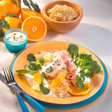 Sauerkrautsalat mit Kasseler Rezept
