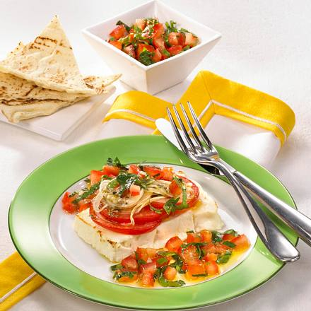Schafskäse mit Tomaten-Petersilien-Salat Rezept