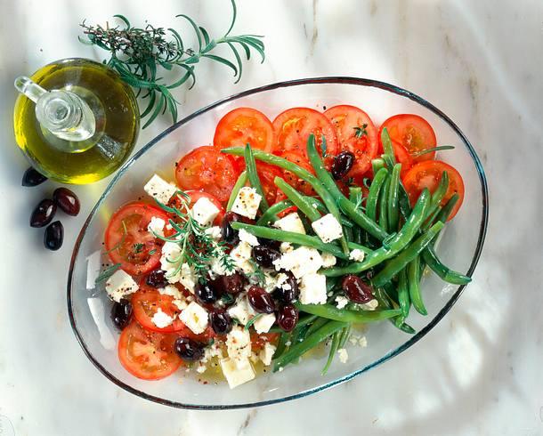 Schafskäse-Salat Rezept