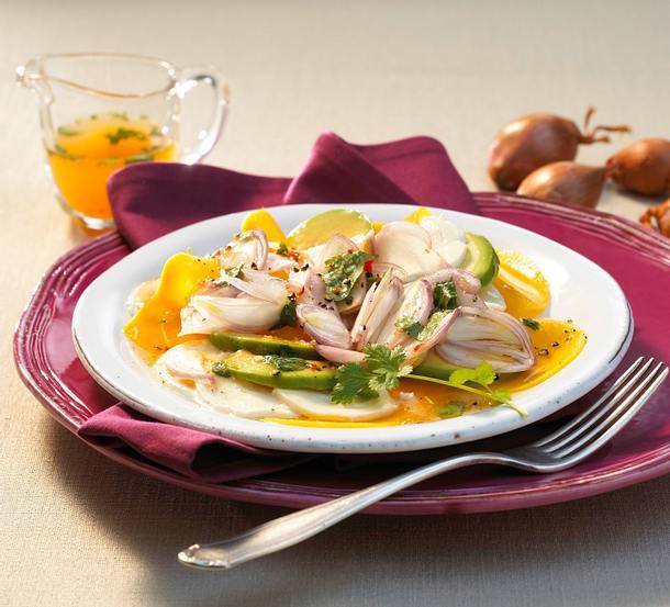 Schalotten-Mango-Carpaccio Rezept