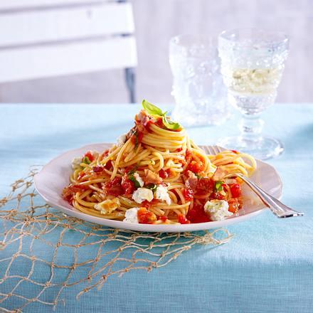 Scharfe Spaghetti mit Speck Rezept