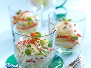 Scharfer Glasnudelsalat mit Gemüse Rezept