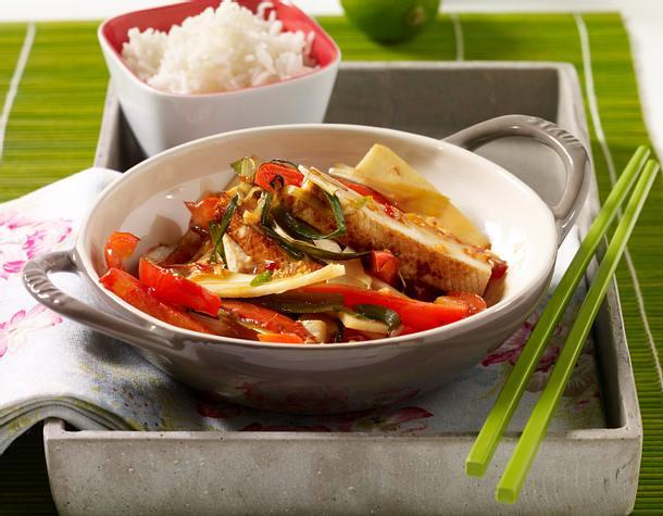 Scharfer Tofu aus dem Wok Rezept