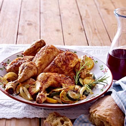 Scharfes Hähnchen mit gebratenen Zucchini Rezept